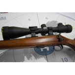CZ 452 .22LR Left Handed Wood/ Blues .22LR W/ Scope + Mod