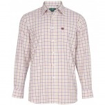 Ilkley Gents Shirt - CHK26 Bordeaux