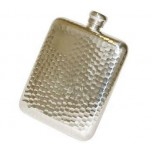 6oz Hammered Pewter Flask by Bisley