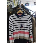 42 Knots Long Sleeve Rugby Navy Stripe