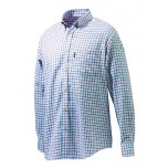 Beretta Classic Shirt - White, Red & Blue Check