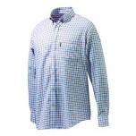 Beretta Classic Shirt - White, Red & Blue Check