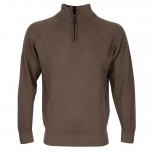 Glenbrae Zip Neck Latte