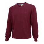 Hoggs Of Fife Stirling Cotton Pullover - Burgundy