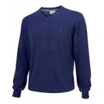 Hoggs Of Fife Stirling Cotton Pullover - Denim