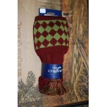 Chessboard Burgundy/ Moss Socks With Garters