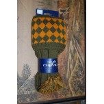 Chessboard Bracken/ Ochre Socks With Garters
