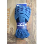 Chessboard New Navy/ Ancient Blue Socks With Garters