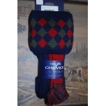 Chequers Navy Socks With Garters