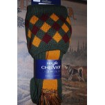 Chequers Spruce Socks With Garters