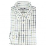 Men's Button-Down Country Shirt Blue/ Green