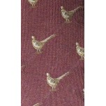Bisley Silk Tie No.16 - Burgundy Pheasants