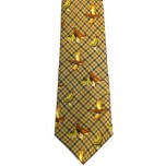 Bisley Silk Tie No.23 - Brown Grouse